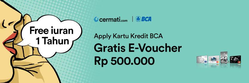 Promo Kartu Kredit BCA Gratis E-Voucher 500rb